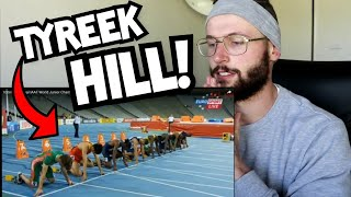 Rugby Player Reacts to TYREEK HILL Sprint Highlights (40y, 60m, 100m, 200m)