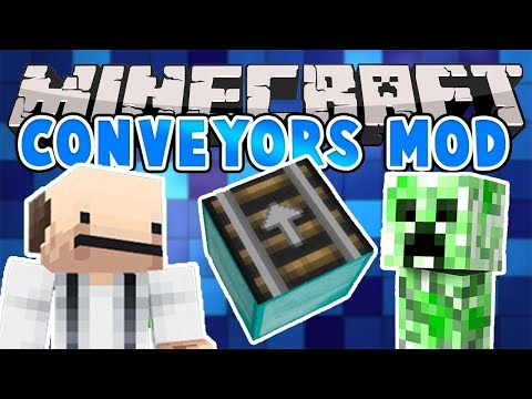 MINECRAFT |  SIMPLY CONVEYORS MOD | Mod Showcase [1.12]