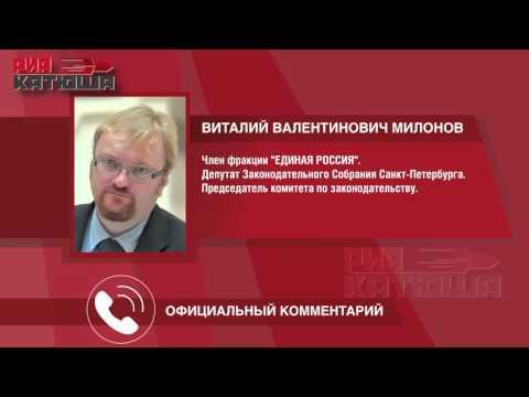 Виталия Милонова выдвинули в Уполномоченные по правам человека в РФ