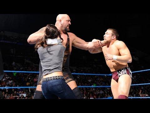 Friday Night SmackDown -  AJ stops Big Show from hitting the WMD on Daniel Bryan (видео)