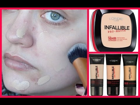 YouTube Made Me Buy It!: L'Oréal Infallible Pro-Matte 24HR Foundation & 16HR Powder