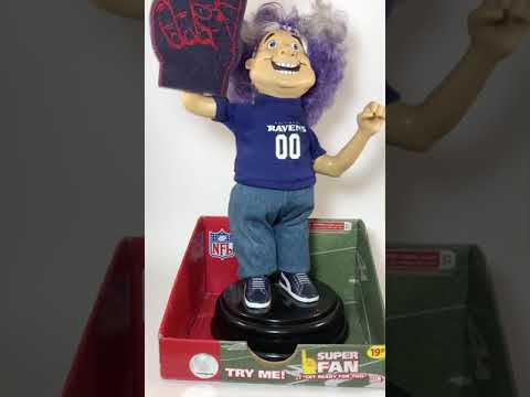 Gemmy Baltimore Ravens Booty Shaking Super Fan 2007 NFL