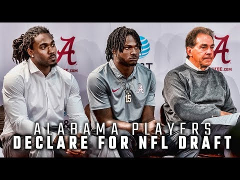 Five of Alabama's impact players declare for NFL draft