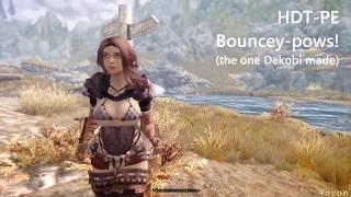 Skyrim - HDT-PE: Bouncey-pows! demonstration