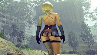 Nier Automata - DLC All Hair Colors & Revealing Outfit + New Items