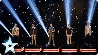 Musical theatre boyband Collabro sing Bring Him Home | Britain's Got Talent 2014