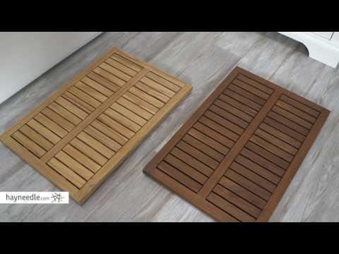 Belham Living Slatted Teak Shower Mat - Product Review Video