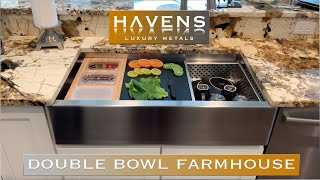 A Highly Advanced Double Bowl Stainless Steel Custom Farmhouse Sink