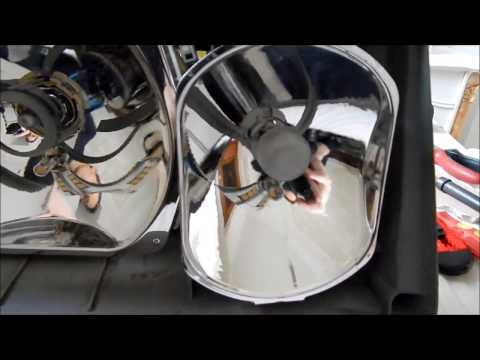 переделка фар под е500 на 124 мерседесе видео
