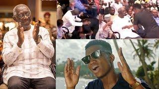 WOW;Ex-Prez Kufour dances to Kofi Kinaata's 'things fall apart' song⭐Blesses him ….