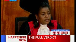 Justice Njoki Ndung'u's take on irregularities  during the general elections