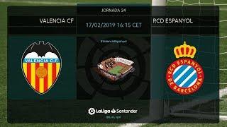 Calentamiento Valencia CF vs RCD Espanyol