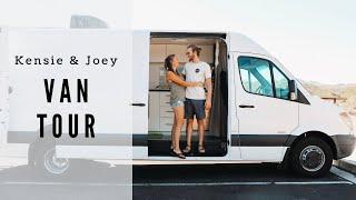 VAN TOUR   19 year old couple transforms van to travel the world