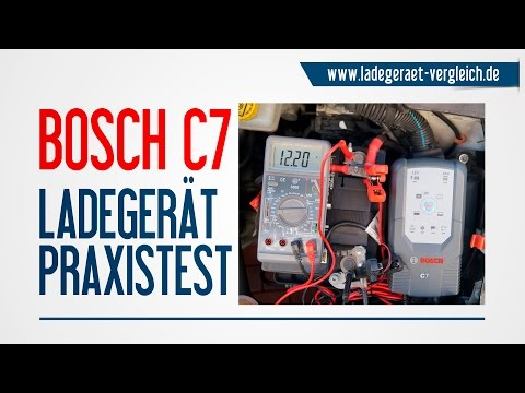 BOSCH C7 Test -  Ladegerät Test am Auto - 12V Autobatterie laden kurz erklärt - 12V / 24V Ladegerät