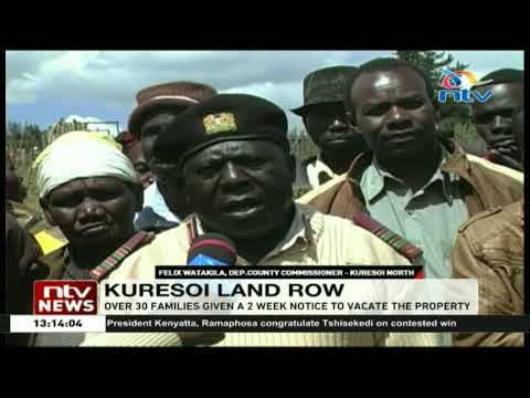 Over 30 families given a 2 weeks notice to vacate Kuresoi public land