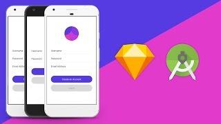 Sketch UI Design to Android Studio XML Tutorial