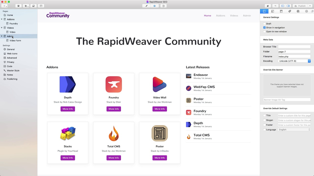 Rapidweaver seo basics — rapidweaver 7 for beginners lesson 4.