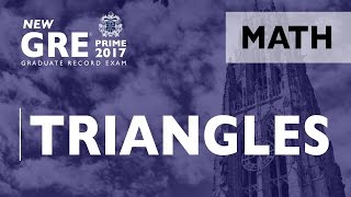 GRE Math | Triangles | Quanitative Reasoning | Mathematics | GRE Exam | GRE Test
