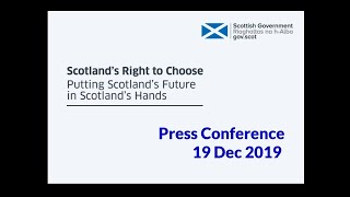 19 Dec - Nicola Sturgeon - Scotland's right to choose