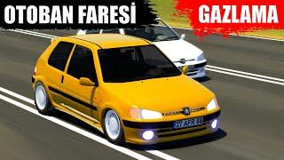 OTOBAN FARESİ PEUGEOT 106 İLE GAZLAMA !! EGZOZ ŞOV !! | ASSETTO CORSA