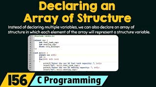 Declaring an Array of Structure