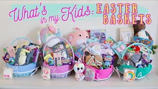 WHATS IN MY KIDS EASTER BASKETS 2020 || EASTER BASKET IDEAS TODDLER TO TEEN