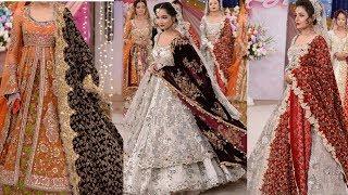 Random Stylish Bridal Dresses With Fancy Velvet Shawls /Top Beautiful Dresses Design For Girls 2017