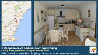 preview picture of video '5 slaapkamers 3 badkamers Dorpswoning te Koop in Country House, Formentera Del Segura, Alicante'