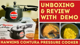 Hawkins Contura Hard Anodised Pressure Cooker   Unboxing & Review with Full Demo I Positive Asha