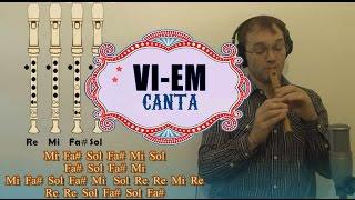 Canta que la vida es una fiesta (VI EM) en Flauta Dulce + Guitarra + Notas explicadas