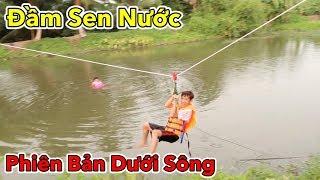 Lamtv - Phá Tan Cơn Nóng Bằng Trò Đu Dây Vượt Sông | Swing the rope across the river