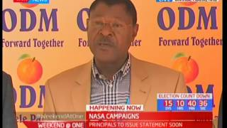 Moses Wetangula: The Election is being replaced by a ruling coup d'état