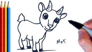 Goat Drawing For Kids म फ त ऑनल इन व ड य