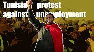 TUNISIA - Video of protest against high unemployment