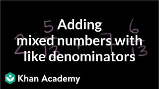 Adding subtracting mixed numbers 0.5 (ex 1)