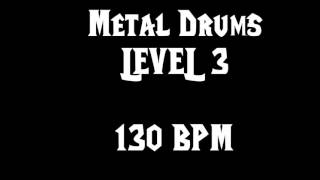 Metal Drums Level 3 (130 BPM) Free Drum Track
