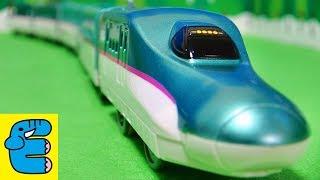 プラレール E5系新幹線はやぶさ改造・中間車 Plarail Upgrade Series E5 Shinkansen Hayabusa [English Subs]