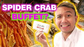 Have You Tried Eating A Giant Spider Crab In An Authentic Japanese Buffet In Kuishin Bo Singapore?