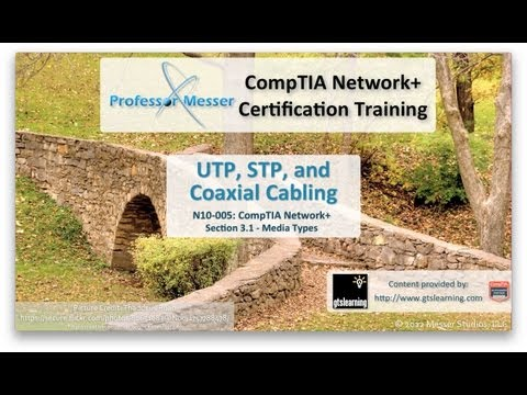 UTP, STP, and Coaxial Cabling - CompTIA Network+ N10-005: 3.1