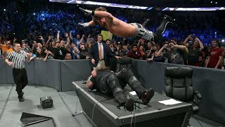WWE ALL Tables Moments of 2017 HD