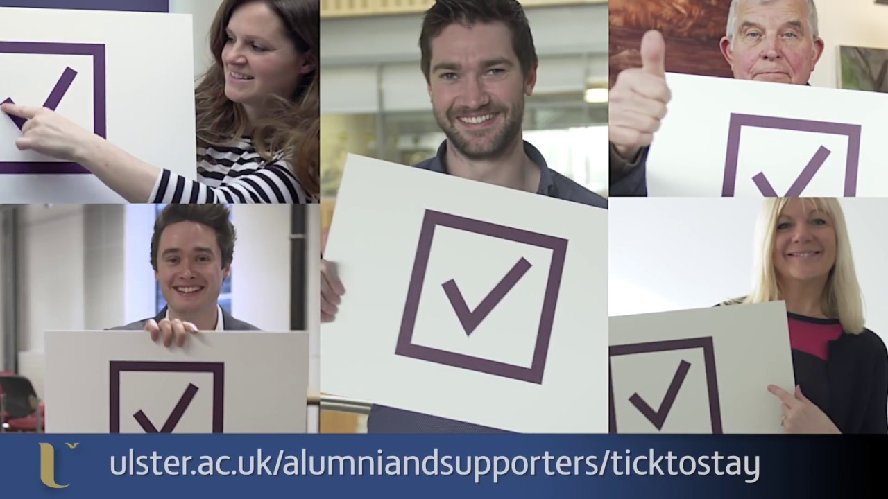 Hear from Ulster University graduates about why they stay in touch with the Development & Alumni Relations Office