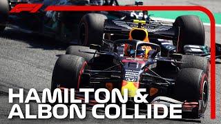 Lewis Hamilton and Alex Albon Crash | 2020 Austrian Grand Prix