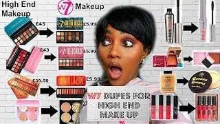 W7 DUPES FOR HIGH END MAKE UP HAUL &  SWATCHES