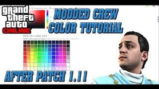 GTA 5 Online How To Create Your Own Modded Crew Color! | PS3 & Xbox 360 After Patch 1.11