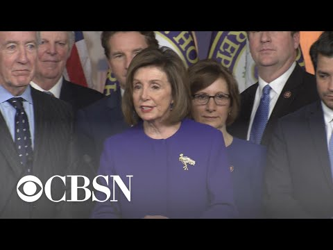 Pelosi: Timing of trade deal with Mexico and Canada and announcement of articles of impeachment n…