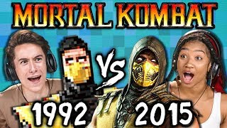MORTAL KOMBAT Old vs New (1992 vs 2015) (React: Gaming)