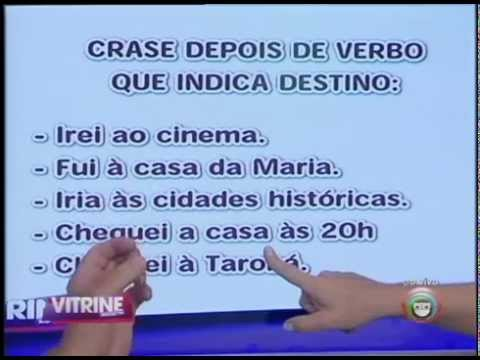 Prof. Dilson e Lu Oliveira - crase com verbos indicadores de destino