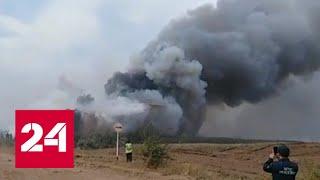 Pożar lasu zbliżył się do budynków mieszkalnych we wsi Borskoje – Rosja 24-nagranie w j.rosyjskim