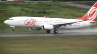Boeing 737-800 c/ winglets decola de Manaus - Airport view