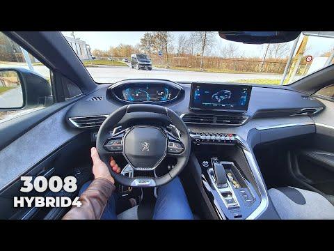 New Peugeot 3008 Facelift Hybrid4 Plug in Hybrid 2021 Test Drive Review POV